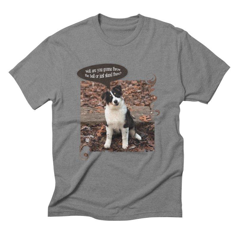 Throw the Ball! Men's Triblend T-Shirt by Smarty Petz's Artist Shop