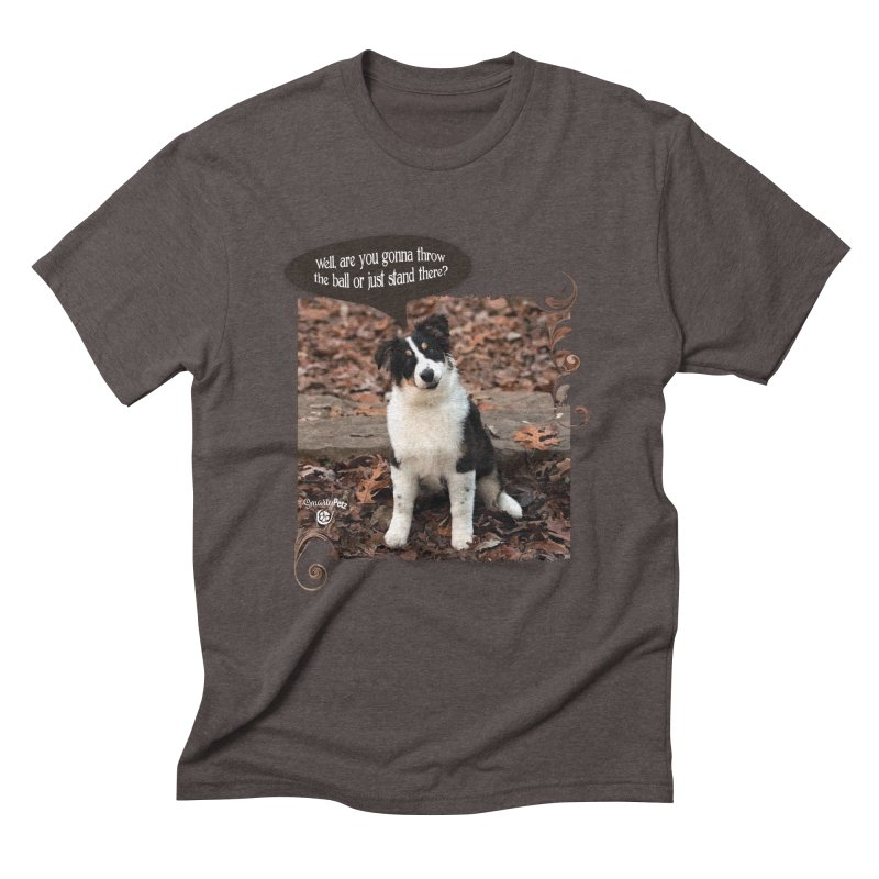 Throw the Ball! Men's Triblend T-Shirt by Smarty Petz's Artist Shop