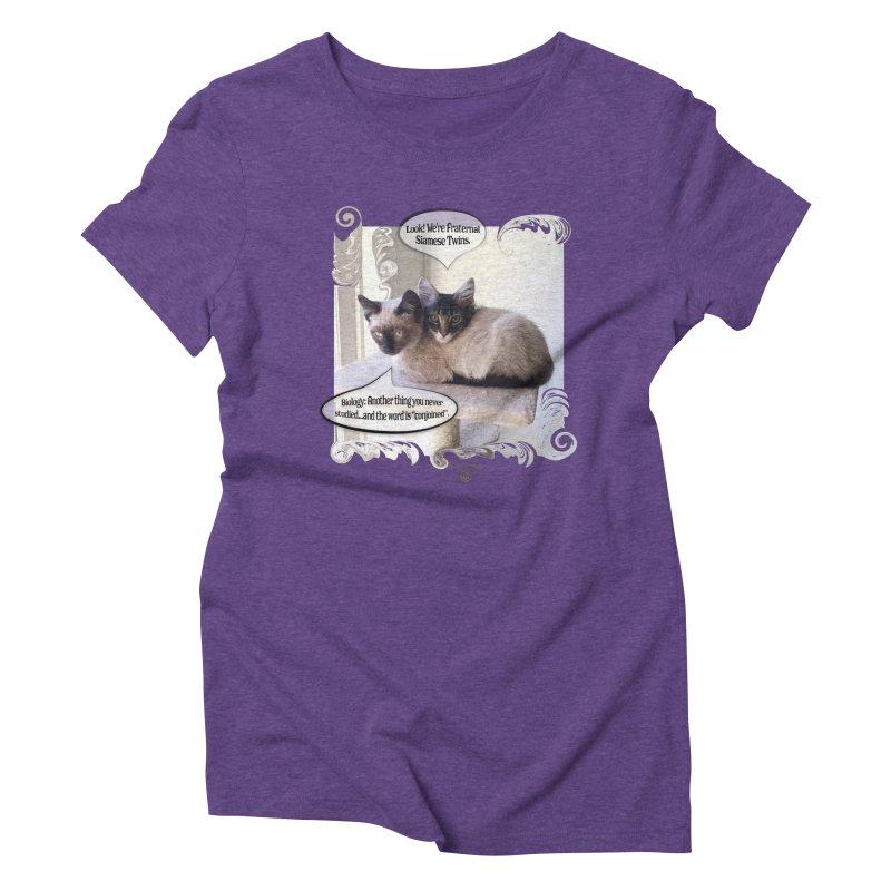Siamese Twins Women's Triblend T-Shirt by Smarty Petz's Artist Shop
