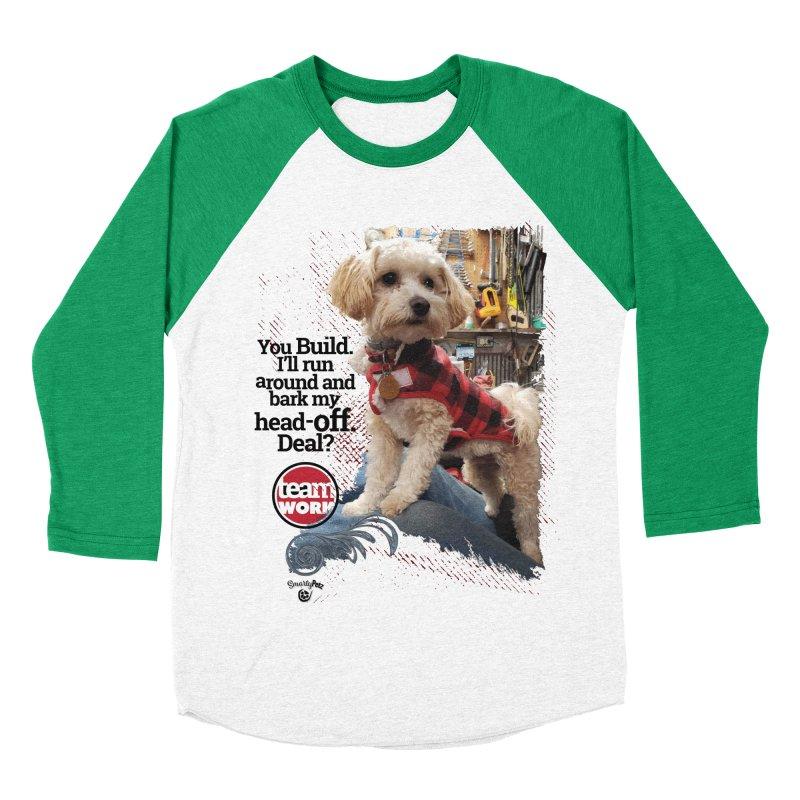 Bark my head off. Men's Baseball Triblend Longsleeve T-Shirt by SmartyPetz's Artist Shop