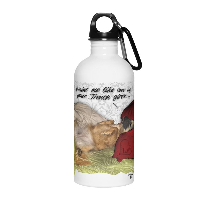 French Girl Accessories Water Bottle by SmartyPetz's Artist Shop