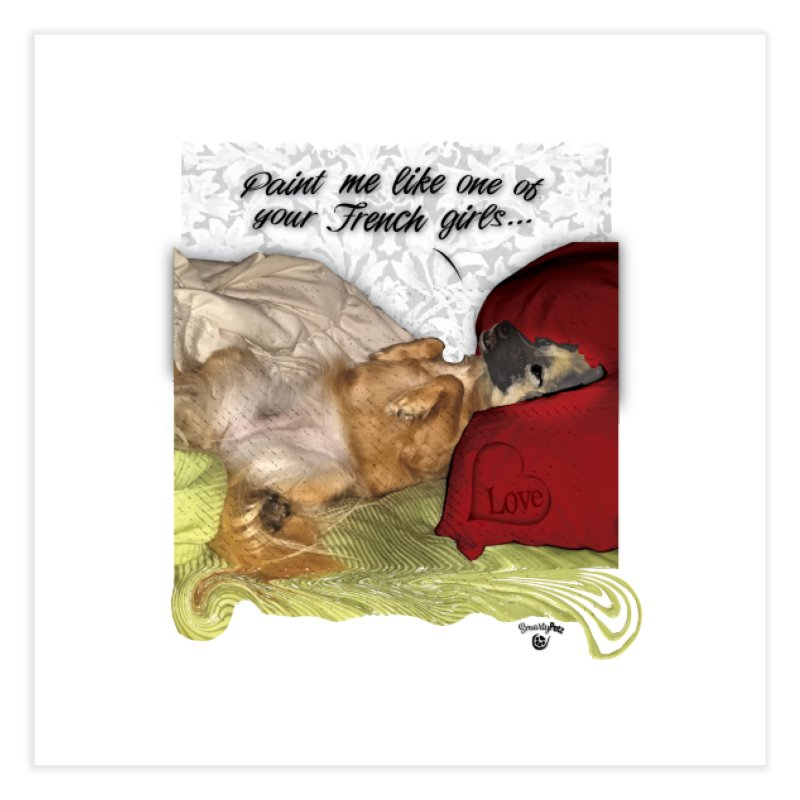 French Girl Home Fine Art Print by SmartyPetz's Artist Shop