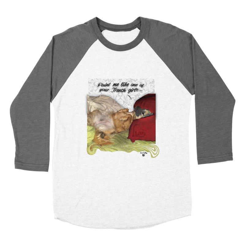 French Girl Men's Baseball Triblend Longsleeve T-Shirt by SmartyPetz's Artist Shop