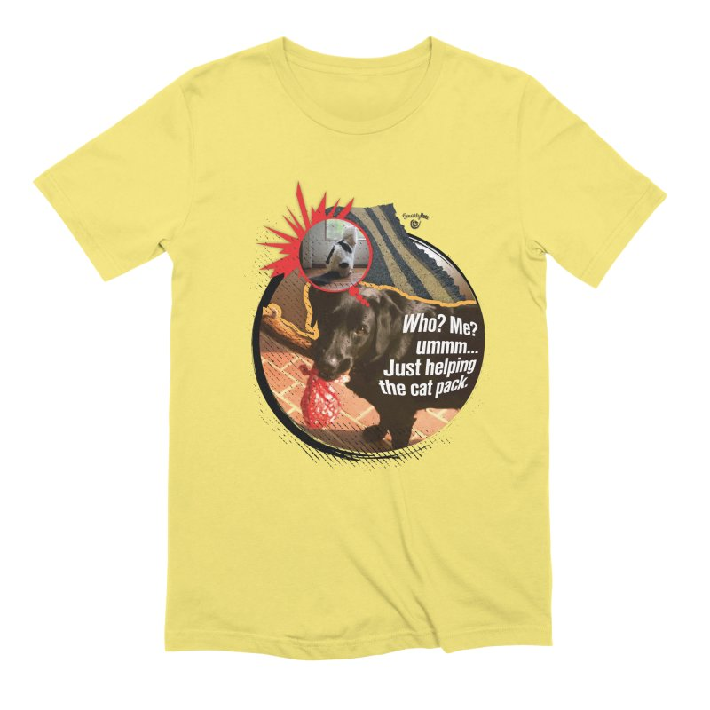 Helping the cat pack Men's Extra Soft T-Shirt by SmartyPetz's Artist Shop