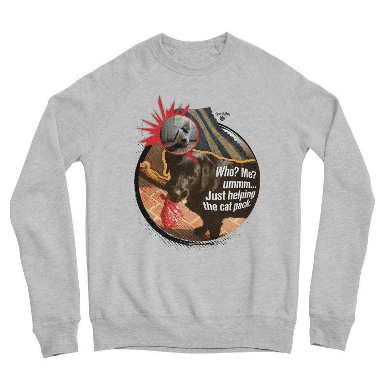 Helping the cat pack Women's Sponge Fleece Sweatshirt by SmartyPetz's Artist Shop