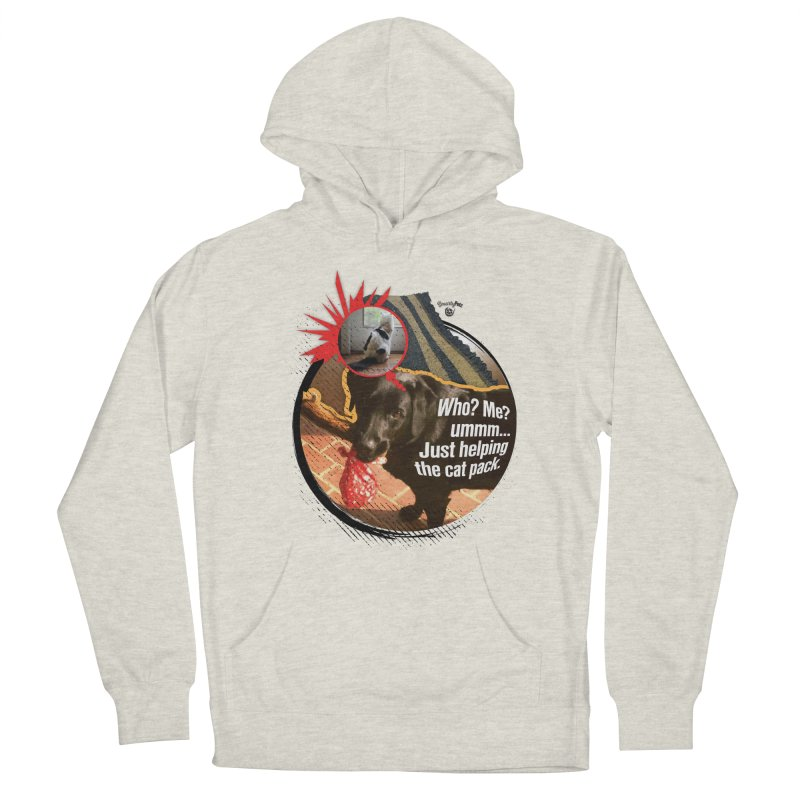 Helping the cat pack Men's French Terry Pullover Hoody by SmartyPetz's Artist Shop
