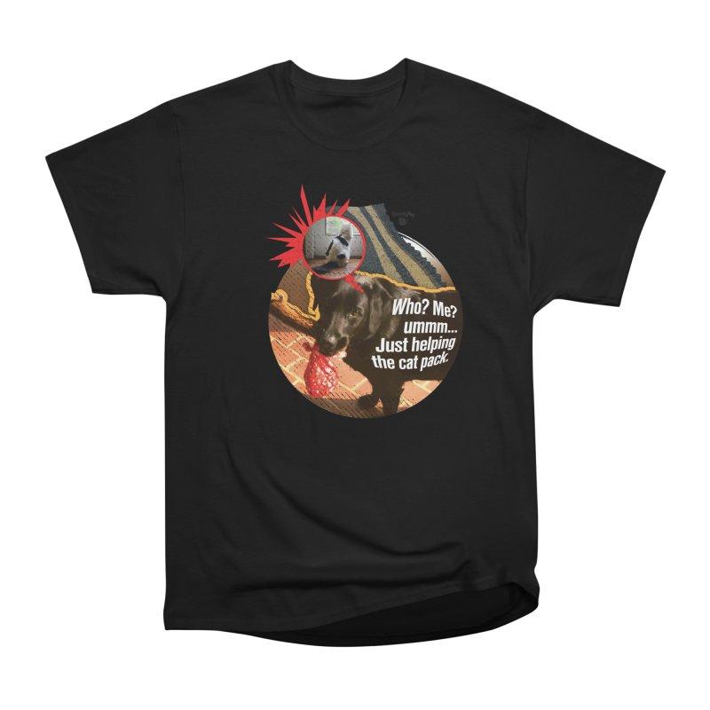 Helping the cat pack Women's Heavyweight Unisex T-Shirt by SmartyPetz's Artist Shop