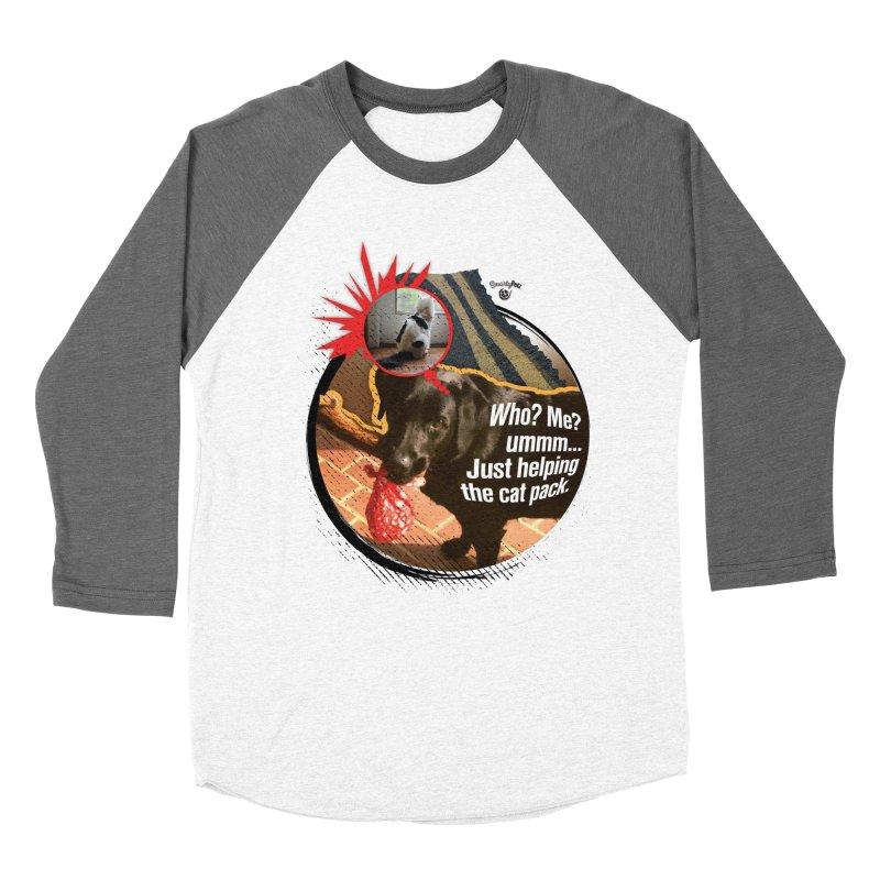 Helping the cat pack Women's Baseball Triblend Longsleeve T-Shirt by SmartyPetz's Artist Shop