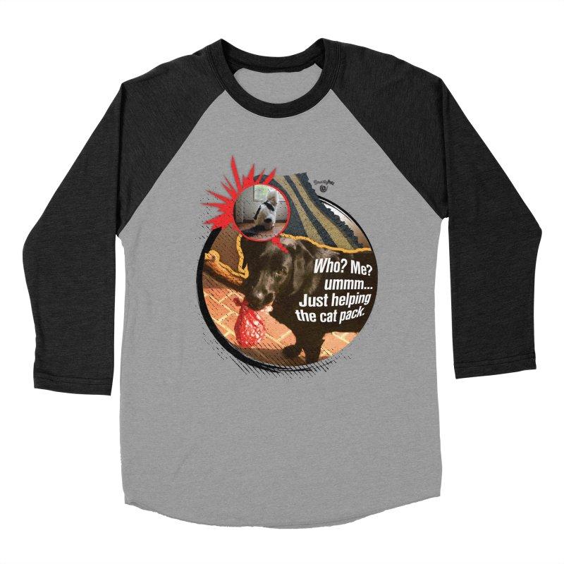 Helping the cat pack Women's Baseball Triblend Longsleeve T-Shirt by Smarty Petz's Artist Shop
