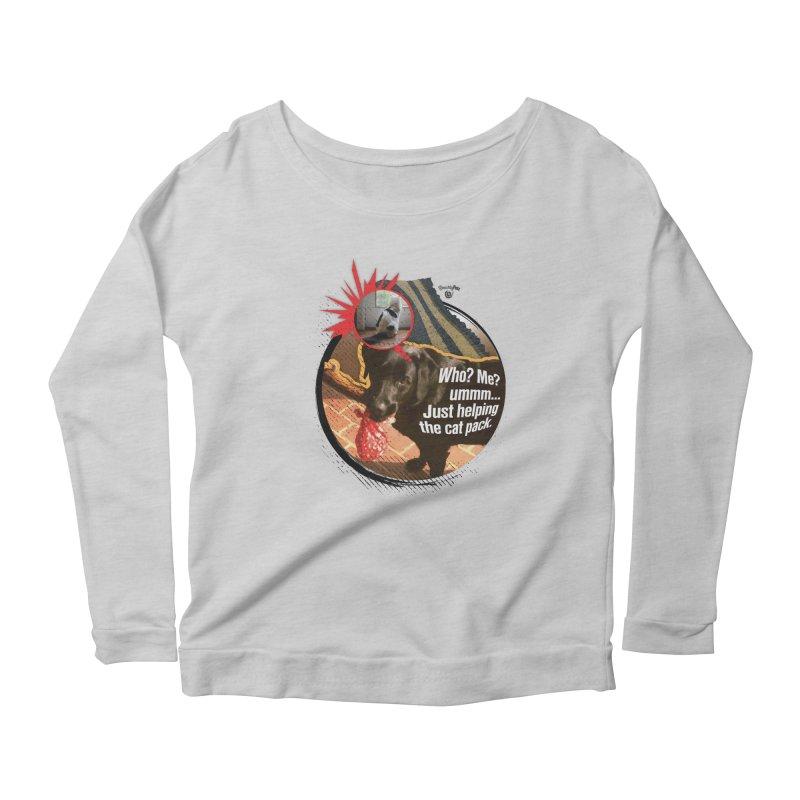 Helping the cat pack Women's Scoop Neck Longsleeve T-Shirt by SmartyPetz's Artist Shop