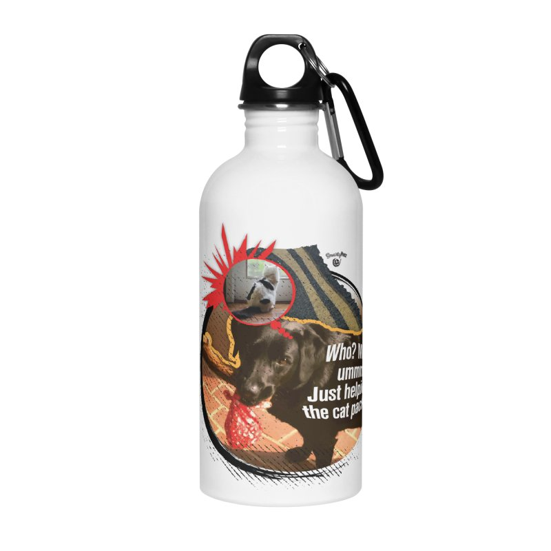 Helping the cat pack Accessories Water Bottle by SmartyPetz's Artist Shop