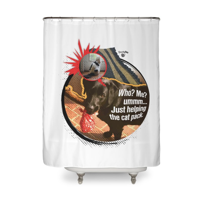 Helping the cat pack Home Shower Curtain by SmartyPetz's Artist Shop