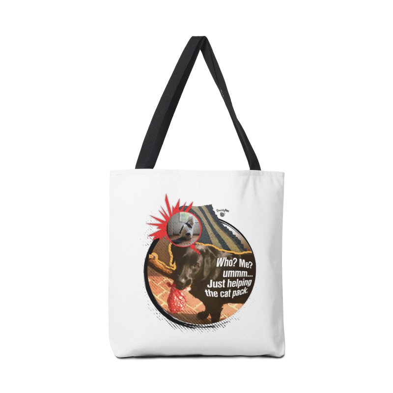 Helping the cat pack Accessories Bag by SmartyPetz's Artist Shop