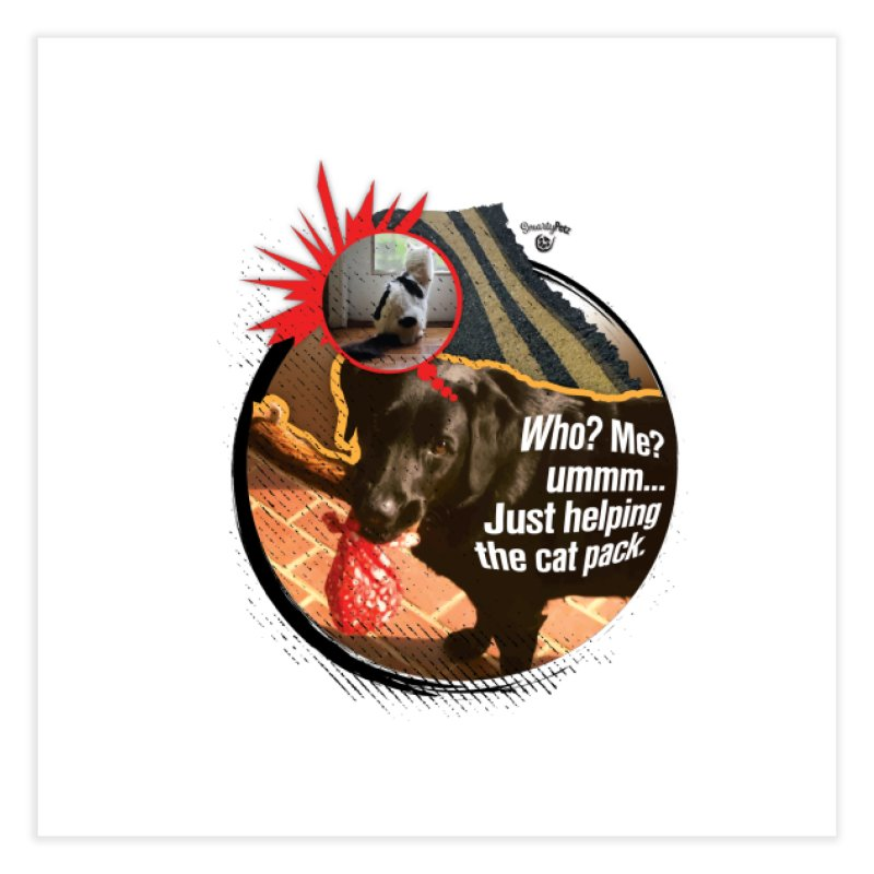 Helping the cat pack Home Fine Art Print by SmartyPetz's Artist Shop
