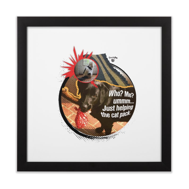 Helping the cat pack Home Framed Fine Art Print by SmartyPetz's Artist Shop