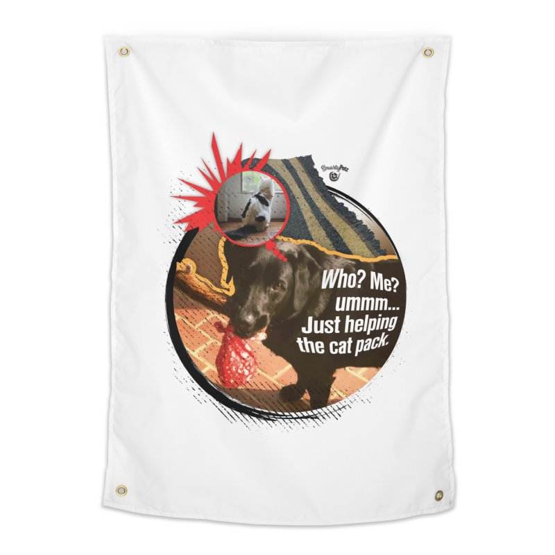 Helping the cat pack Home Tapestry by SmartyPetz's Artist Shop