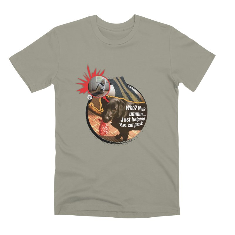 Helping the cat pack Men's Premium T-Shirt by Smarty Petz's Artist Shop