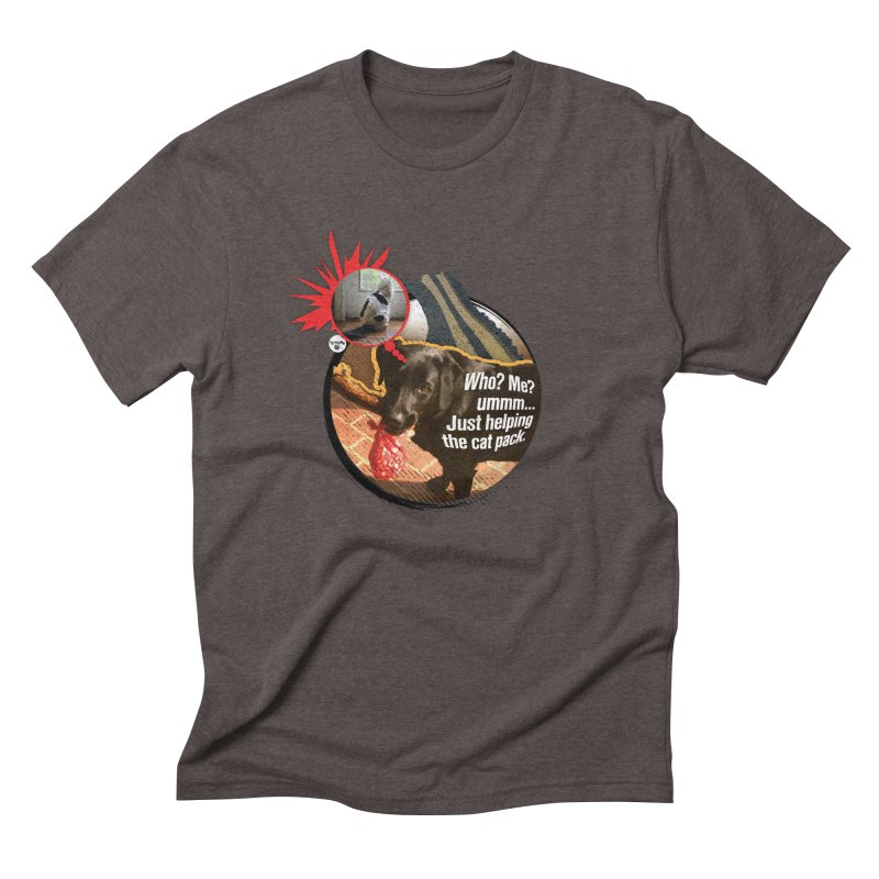 Helping the cat pack Men's Triblend T-Shirt by Smarty Petz's Artist Shop