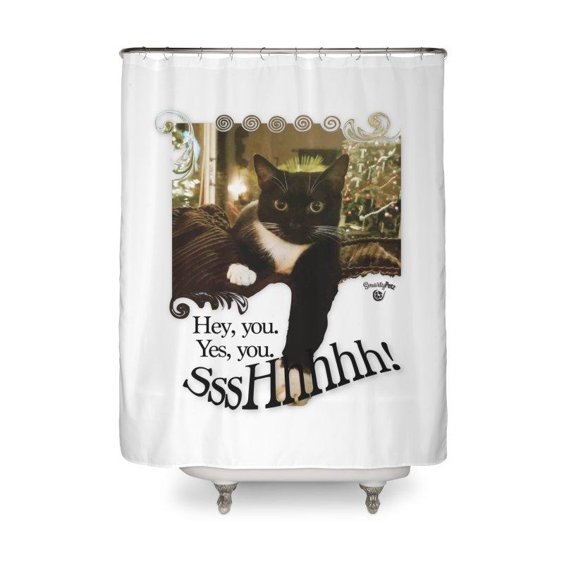 SssHhhhh! Home Shower Curtain by SmartyPetz's Artist Shop