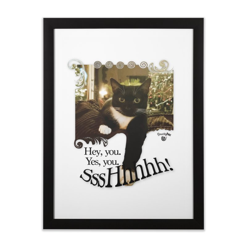 SssHhhhh! Home Framed Fine Art Print by SmartyPetz's Artist Shop