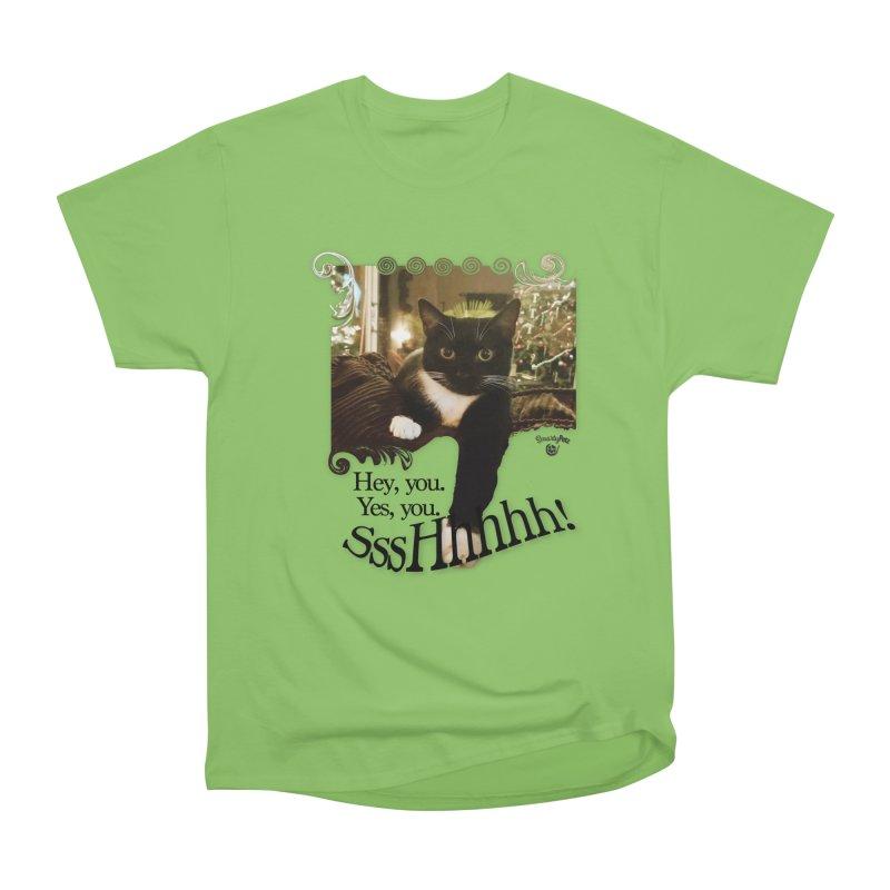 SssHhhhh! Women's Heavyweight Unisex T-Shirt by SmartyPetz's Artist Shop