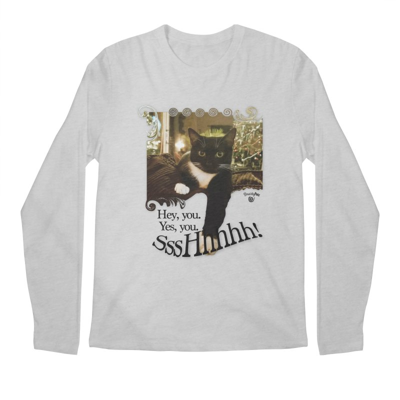 SssHhhhh! Men's Regular Longsleeve T-Shirt by SmartyPetz's Artist Shop