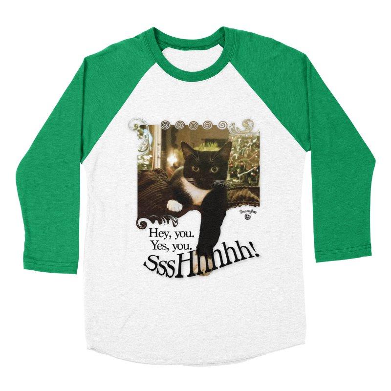 SssHhhhh! Men's Baseball Triblend Longsleeve T-Shirt by SmartyPetz's Artist Shop