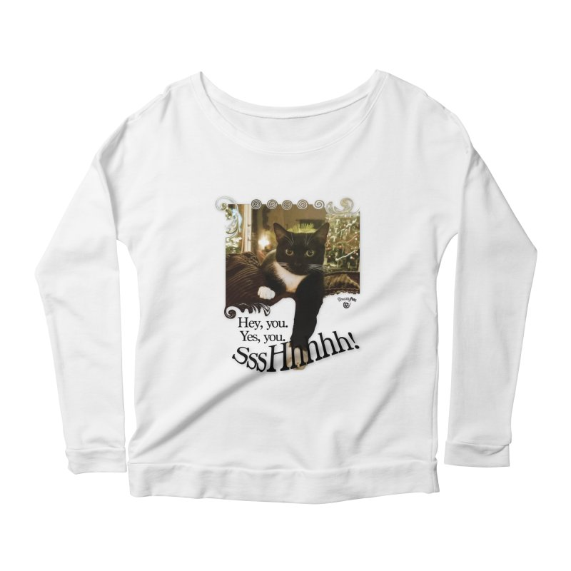 SssHhhhh! Women's Scoop Neck Longsleeve T-Shirt by SmartyPetz's Artist Shop