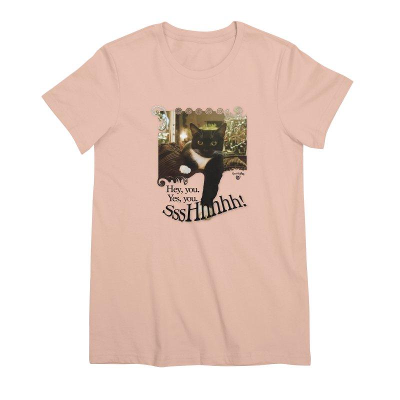 SssHhhhh! Women's Premium T-Shirt by Smarty Petz's Artist Shop