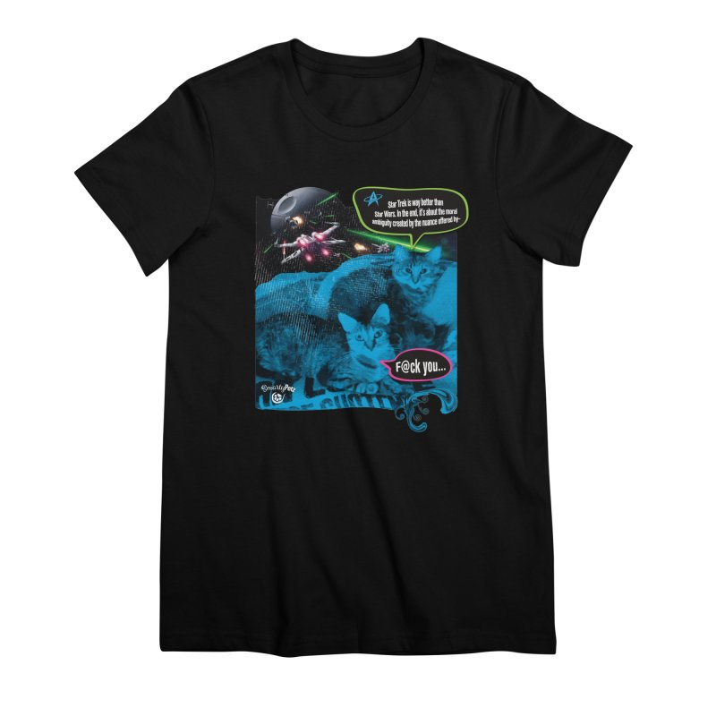 Star Trek -VS- Star Wars Women's Premium T-Shirt by Smarty Petz's Artist Shop