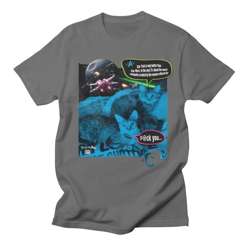 Star Trek -VS- Star Wars Women's T-Shirt by Smarty Petz's Artist Shop