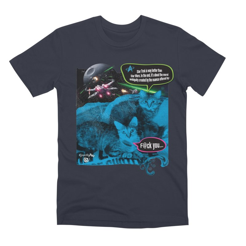 Star Trek -VS- Star Wars Men's Premium T-Shirt by Smarty Petz's Artist Shop
