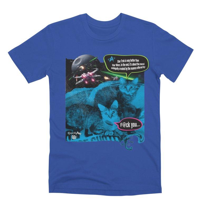 Star Trek -VS- Star Wars Men's Premium T-Shirt by Smarty Petz's Artist Shop