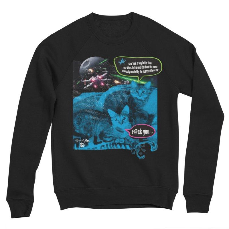Star Trek -VS- Star Wars Men's Sponge Fleece Sweatshirt by SmartyPetz's Artist Shop