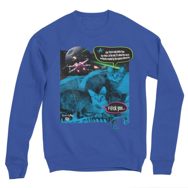 Star Trek -VS- Star Wars Women's Sponge Fleece Sweatshirt by SmartyPetz's Artist Shop