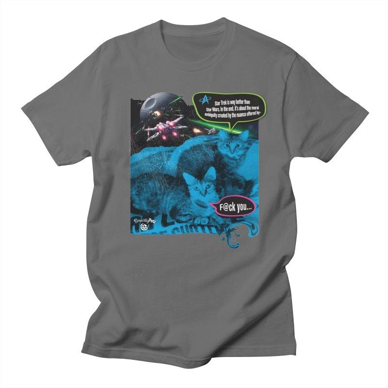 Star Trek -VS- Star Wars Men's T-Shirt by Smarty Petz's Artist Shop