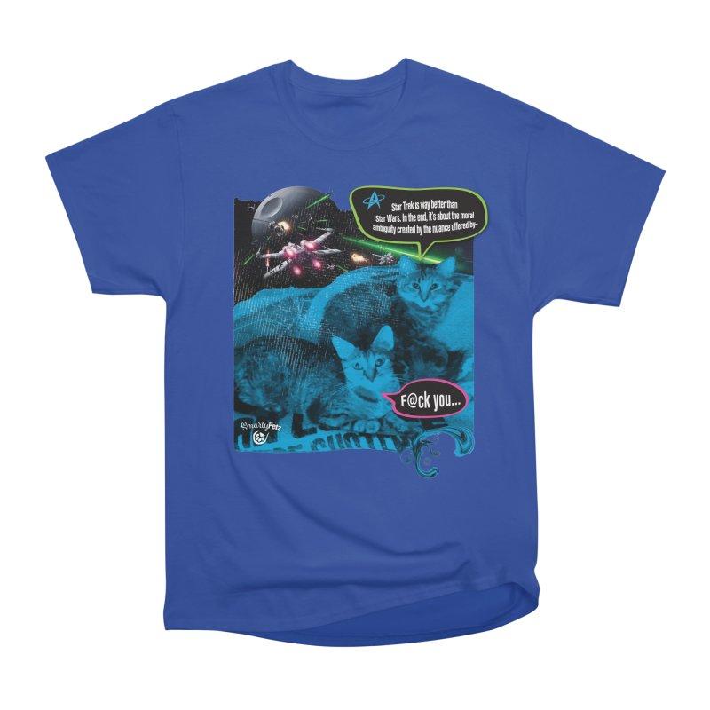 Star Trek -VS- Star Wars Women's Heavyweight Unisex T-Shirt by SmartyPetz's Artist Shop