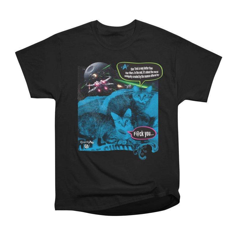 Star Trek -VS- Star Wars Men's Heavyweight T-Shirt by SmartyPetz's Artist Shop