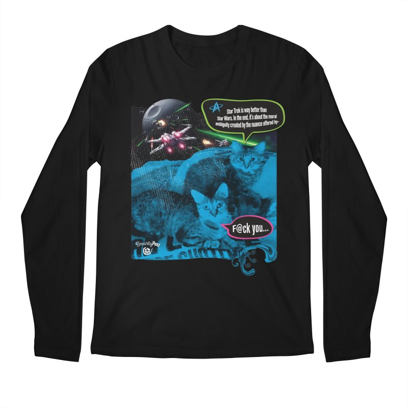 Star Trek -VS- Star Wars Men's Regular Longsleeve T-Shirt by SmartyPetz's Artist Shop