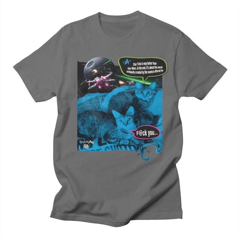 Star Trek -VS- Star Wars Women's Regular Unisex T-Shirt by Smarty Petz's Artist Shop