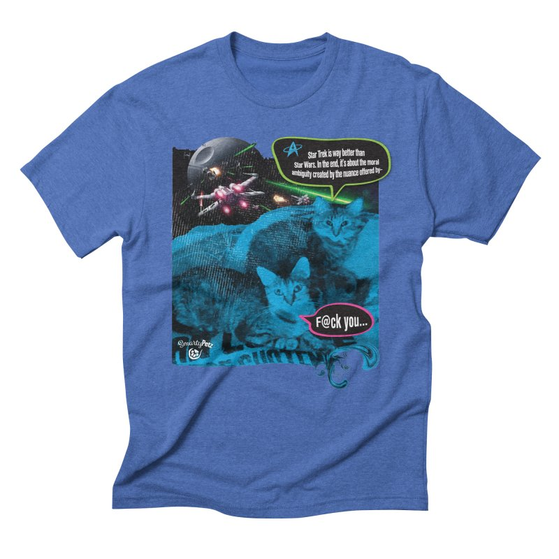 Star Trek -VS- Star Wars Men's Triblend T-Shirt by SmartyPetz's Artist Shop