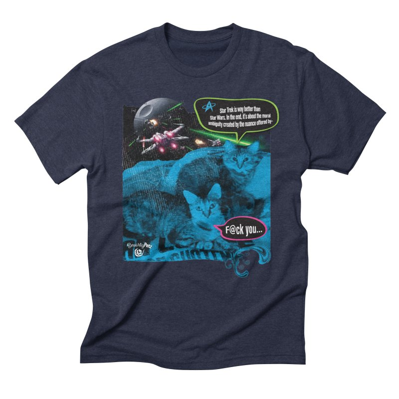 Star Trek -VS- Star Wars Men's Triblend T-Shirt by Smarty Petz's Artist Shop