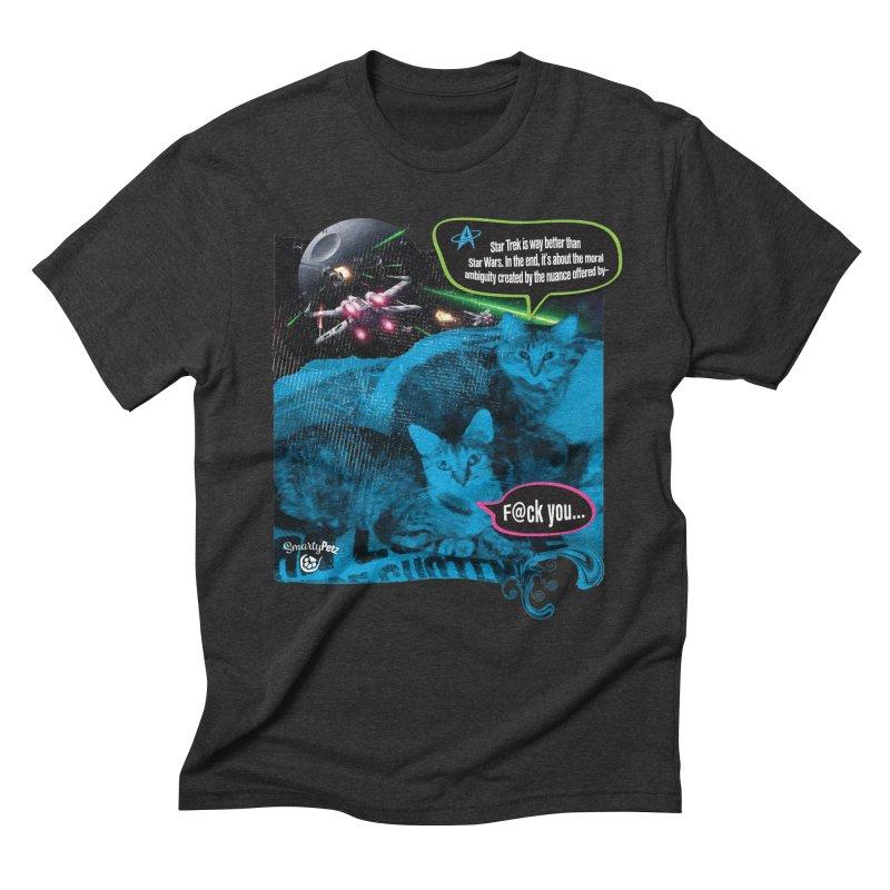 Star Trek -VS- Star Wars Men's Triblend T-Shirt by Smarty Petz's Artist Shop