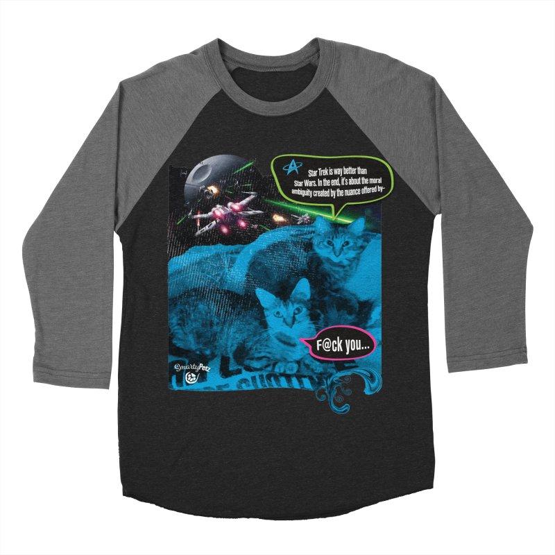 Star Trek -VS- Star Wars Women's Baseball Triblend Longsleeve T-Shirt by SmartyPetz's Artist Shop