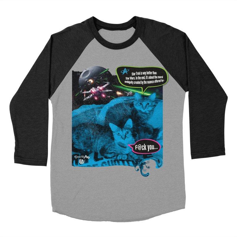 Star Trek -VS- Star Wars Women's Baseball Triblend Longsleeve T-Shirt by Smarty Petz's Artist Shop