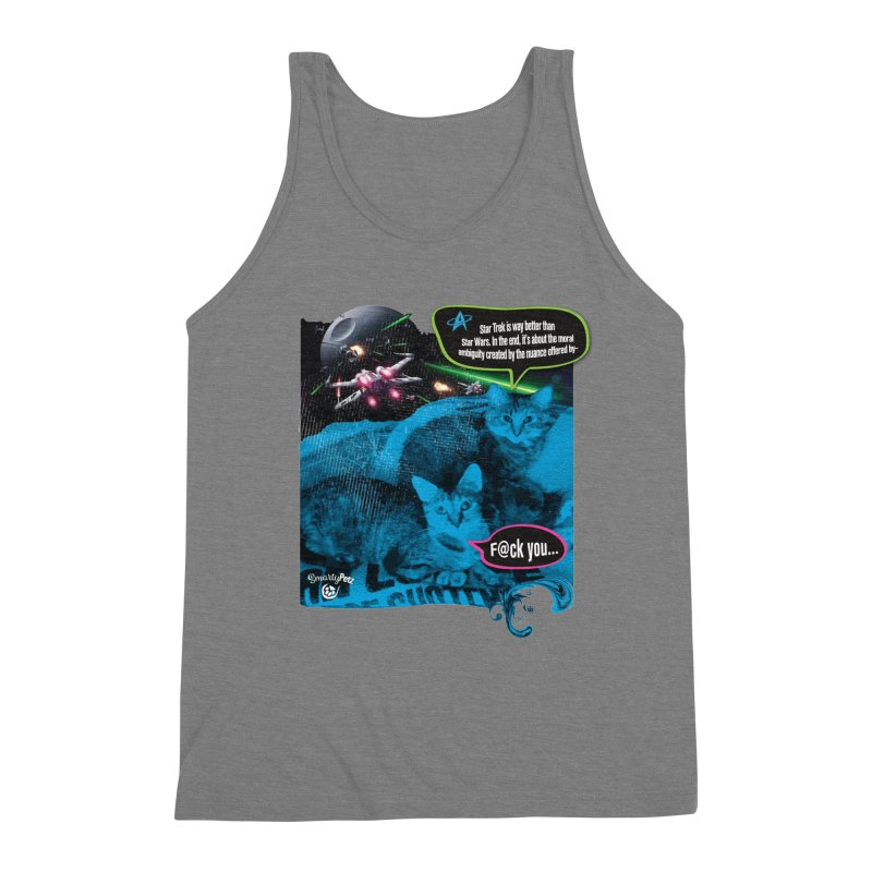 Star Trek -VS- Star Wars Men's Triblend Tank by Smarty Petz's Artist Shop
