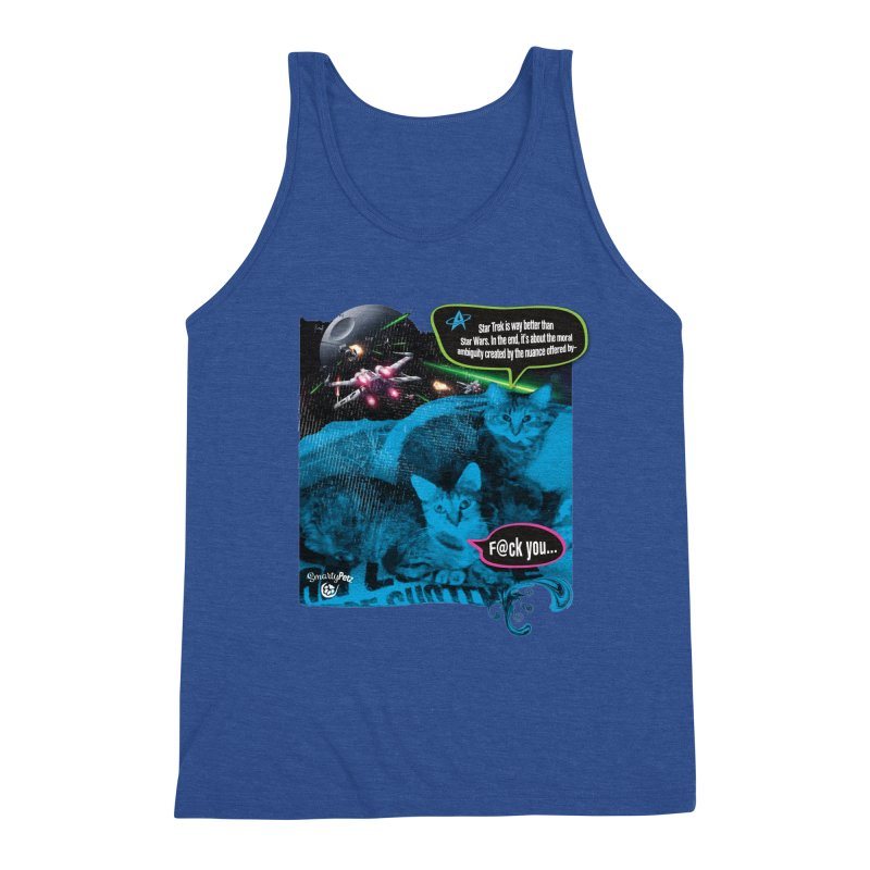 Star Trek -VS- Star Wars Men's Tank by Smarty Petz's Artist Shop