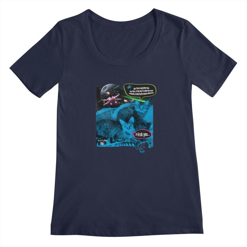 Star Trek -VS- Star Wars Women's Regular Scoop Neck by SmartyPetz's Artist Shop