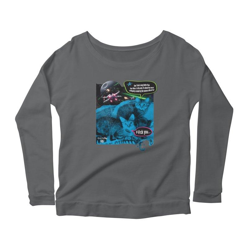 Star Trek -VS- Star Wars Women's Scoop Neck Longsleeve T-Shirt by SmartyPetz's Artist Shop