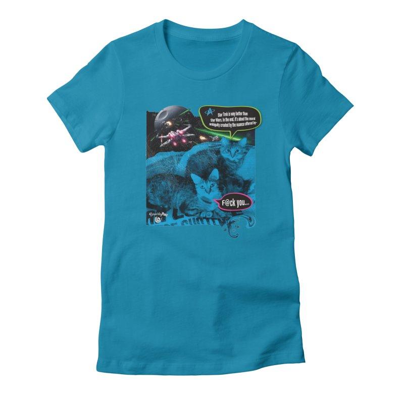 Star Trek -VS- Star Wars Women's Fitted T-Shirt by SmartyPetz's Artist Shop